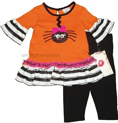 Halloween Dress Legging 2 Piece Girls Outfit UP Costume INFANT CHILDREN Holiday