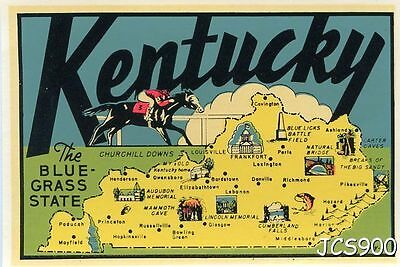 Vintage Lindgren Turner Kentucky Bluegrass State Souvenir Travel Decal Original
