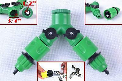 Garden Hose  1 / 2 Way Adapter Y Tap Connector Fitting Switch For Irrigation G