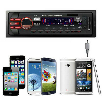 Car Audio Stereo In Dash FM Receiver With Mp3 Player USB SD AUX Input 1235