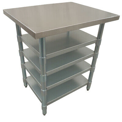 76X76Cm #430 Cafe Hospital Stainless Steel Juice Stand Bench ,4 Under Shelf