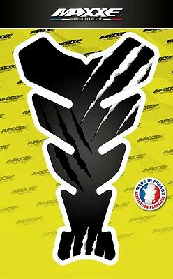 Protection réservoir griffe noir blanc sticker moto gel bike gas tank monster