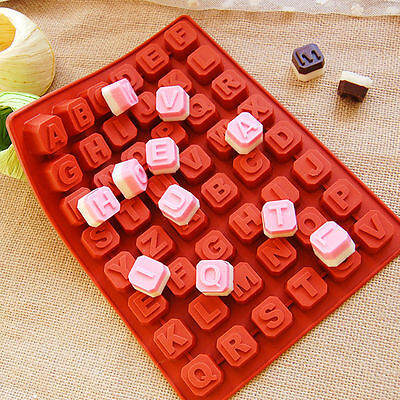 Silicone Alphabet Letter Soap Mold Cake Chocolate Jelly Candy Cookie Cube Mould