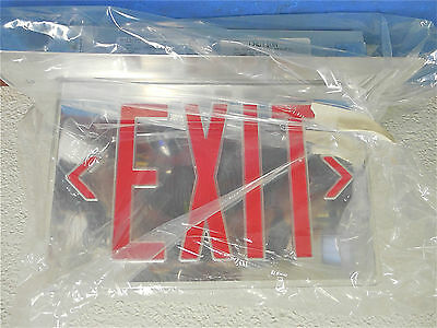 McPhilben Red Led Double Arrow Exit Sign with Housing 120/277V 60Hz #T45VL1RMAD
