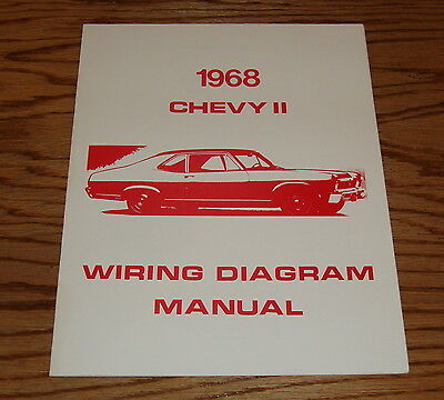 1968 chevrolet chevy ii nova wiring diagram manual 68
