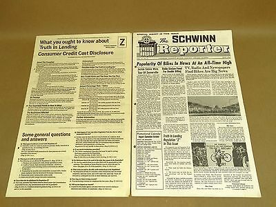 Vintage Schwinn Reporter Bicycle Dealer Newsletter July 1969 Sting Ray Pixie