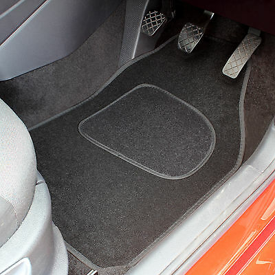 Black Universal Fit Front And Rear Car Mats Replacement 4 Pce Car Floor Mat Set