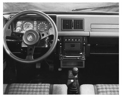 1984 Citroen Visa GTI Interior Automobile Factory Photo ch8597