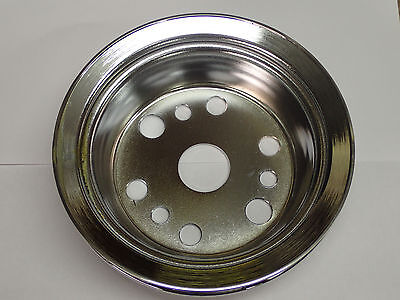 Chevy Small Block SB Power Steering PS Crank Pulley new 3751232 CHROME