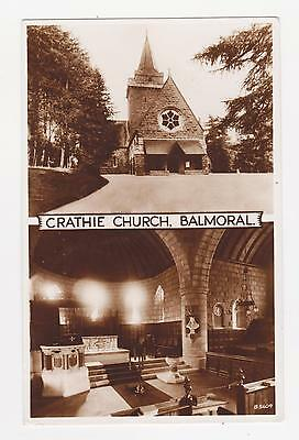 RPPC,Balmoral,Crathie,Scotland,U.K.Crathie Church,2 Views,Used,Lossiemouth,1953