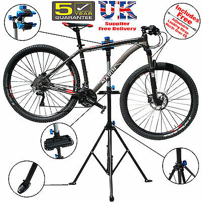 Folding Bicycle Maintenance Repair Stand Pedal Bike Cycle Mechanics Workshop