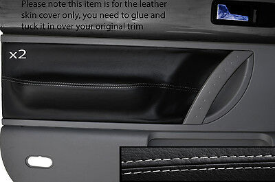 Grey Stitch 2X Front Door Card Trim Skin Covers Fits Vw Beetle 1998-2011