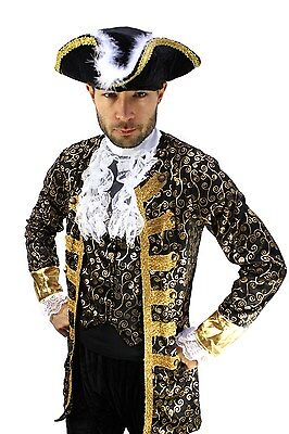 Costume gentilhomme pirate Nobleman Capitaine BAROQUE Caraïbes Moyen-âge Homme