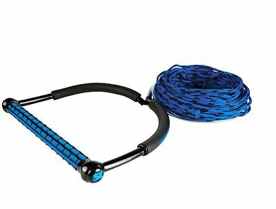 New Liquid Force Straight Line T9 Static Line Wakeboard Rope Handle Combo Blue