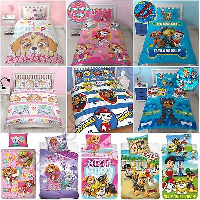 Paw Patrol Official Duvet Cover Sets Various Designs Kids Bedroom Bedding New
