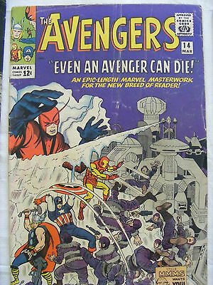Avengers #14 - Mar 1965 - Silver Age - Cents Copy - Iron Man, Thor, Ant Man