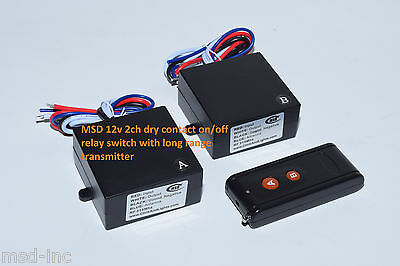 12V 15A DC 2ch on off dry contact relay long range remote control switch  RP201P