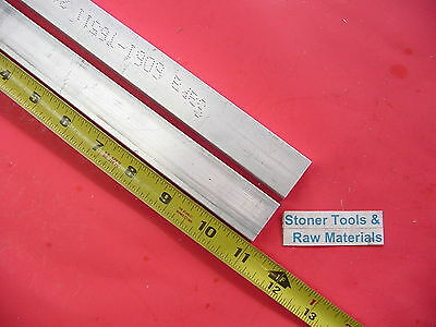 "2 Pieces of 1"" X 1"" 6061 T6511 SQUARE ALUMINUM FLAT BAR 11"" long New Mill Stock"