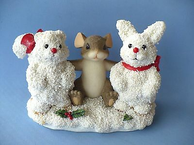 """Vintage Charming Tails """"frosty Friends"""" Figurine No Box Vgc"""