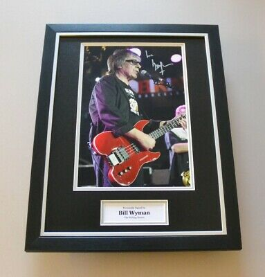 Bill Wyman Signed Framed 16x12 Photo Rolling Stones Autograph Display + COA