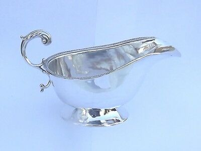 SPLENDID ANTIQUE CHINESE EXPORT SOLID SILVER KWAN WO SAUCE BOAT c1900