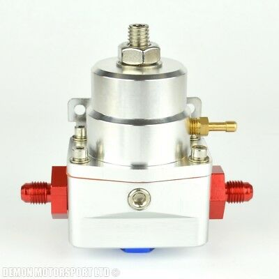 AN4 (AN -4) FPR Fuel Pressure Regulator Silver With 4AN Fittings 100 Psi 1:1