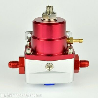 AN4 (AN -4) FPR Fuel Pressure Regulator Red With 4AN Fittings 100 Psi 1:1