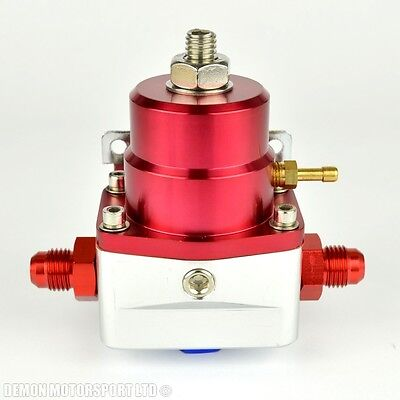 AN6 (AN -6) FPR Fuel Pressure Regulator Red With 6AN Fittings 100 Psi 1:1