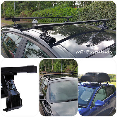 Sturdy & Durable Black Car Roof Rail Rack Bars for Rover Allegro (1973-1982) 5 D
