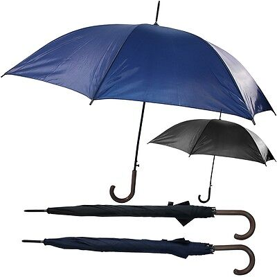 "23"" Auto Open Close Umbrella Windproof Folding Compact Telescopic Golf Handle"