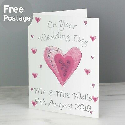 -:- On Your Wedding Day -:- PERSONALISED Celebration Card