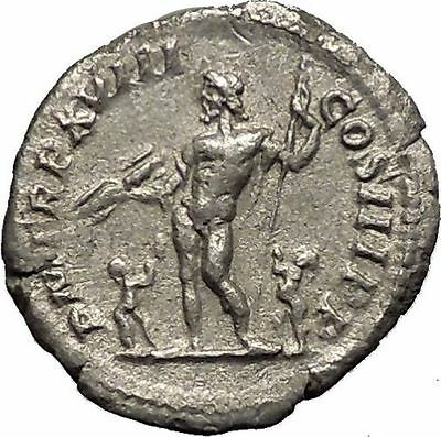 Septimius Severus Ancient Silver Roman Coin Jupiter with two children i52298