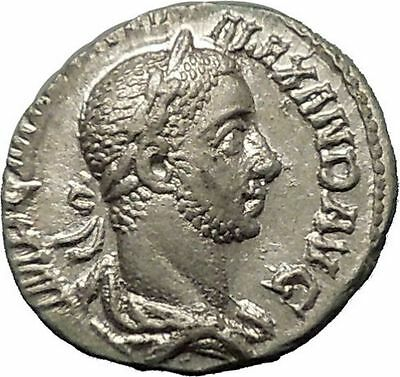 Severus Alexander 227AD Silver Ancient Roman Coin Equality Fairness i52304