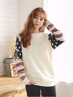 1 x Usa Stars and Striped National Flag Print Sport Pullover Hoodie Casual Sport