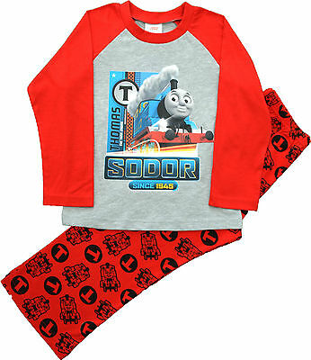 TT22 Boys Thomas and Friends Thomas Tank Engine Pyjamas Sizes 12 Months to 5 Yrs