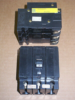 New SQUARE D EH4 3 pole 20 amp 480y/277v EH34020 Circuit Breaker EH
