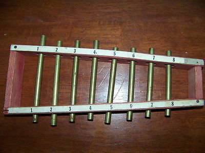 "Vintage children's xylophone wood brass 13"" long musical instrument kid's toy"