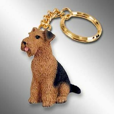 Airedale Dog Tiny One Resin Keychain Key Chain Ring