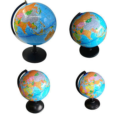 Desktop World Earth Rotating Desk Top Globe Political Geography Eductional Map