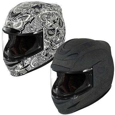 Icon Airmada Chantilly Full Face Motorcycle Motorbike Helmet | All Colours&Sizes