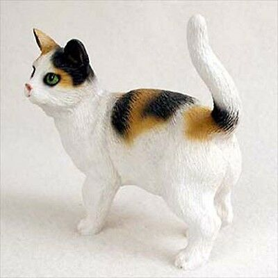 Calico Cat Standing Hand Painted Canine Collectable Figurine Statue
