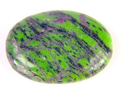 BUTW Ruby in Zoisite Massage Palm Worry Pocket Healing Stone with bag 7187K