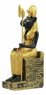 Egyptian Solar Lioness Goddess Sekhmet On Throne Dollhouse Miniature Statue