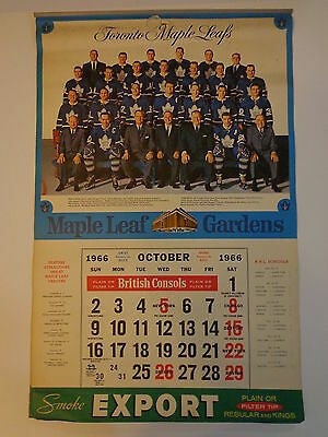 Toronto Maple Leafs Vintage Hockey Calendar All Pages 1966-1967 NHL Export- B