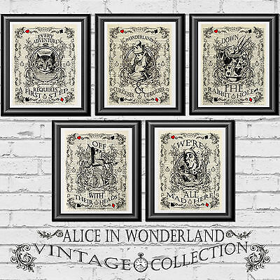 ART Print DICTIONARY ANTIQUE BOOK PAGE Alice in Wonderland Wedding themed decor
