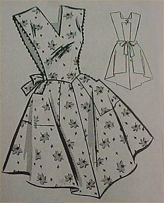 SALE Vintage Bib Apron Full Size Pattern Best X LARGE 50s Sewing Fabric Project