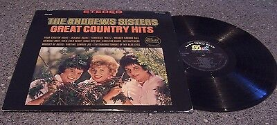 """The Andrews Sisters """"Great Country Hits"""" DOT RECORDS DLP-25567"""