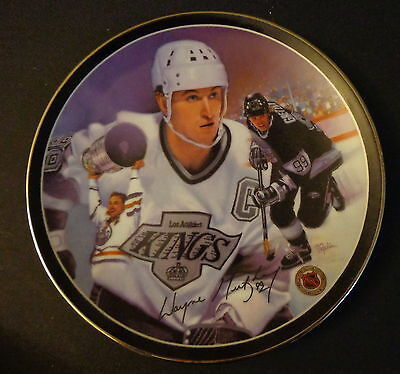 """Heroes On Ice The Great Gretzky Collectors 8"""" Porcelain Plate Limited #6885D COA"""