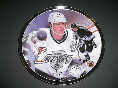 """Heroes On Ice The Great Gretzky Collectors 8"""" Porcelain Plate Limited 17960C COA"""