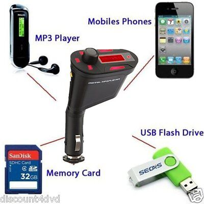 Wireless Car FM Radio Transmitter USB MP3 Player Modulator SD Card Slot Remote